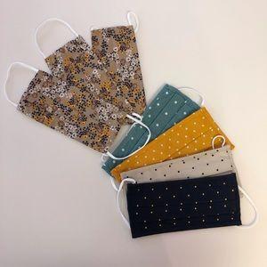 Fabric Pleated Masks - Set of 7 - Never Used